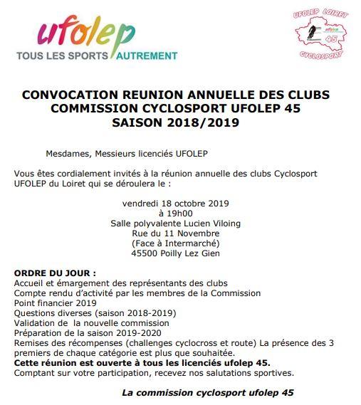 Calendrier Ufolep 2019 Cyclisme.Home